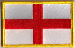 England Embroidered Flag Patch, style 08.